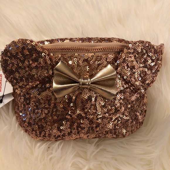 1e1810b06c4 Rose Gold Minnie Mouse Fanny Pack by Loungefly